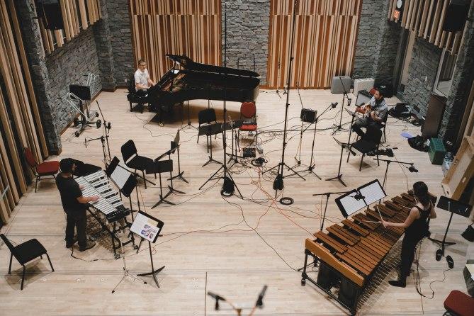 Ethos Collective recording at Pyatt Hall